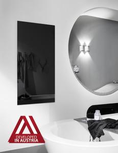 Инфрачервен панел за отопление с черно стъкло