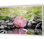 Инфрачервен панел за отопление с картина орхидея