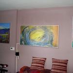 Инфрачервен панел за отопление с картина в хол