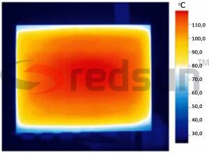 Инфрачервено излъчване на инфрачервен панел за отопление