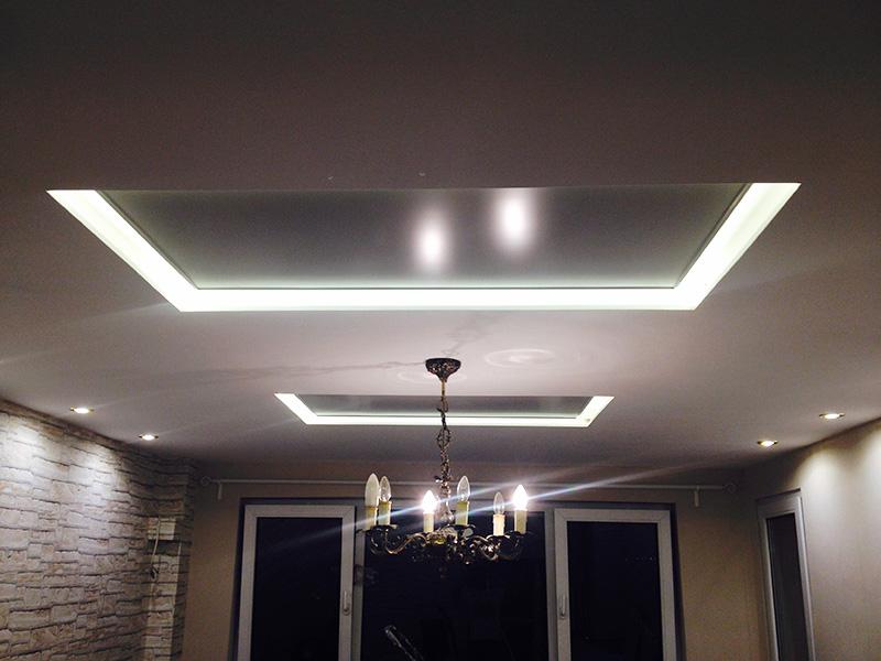 a0844ee1bfc Два инфрачервени панела за отопление монтирани на таван в хол 20 м2