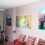 Инфрачервен панел за отопление с картина в хол_1