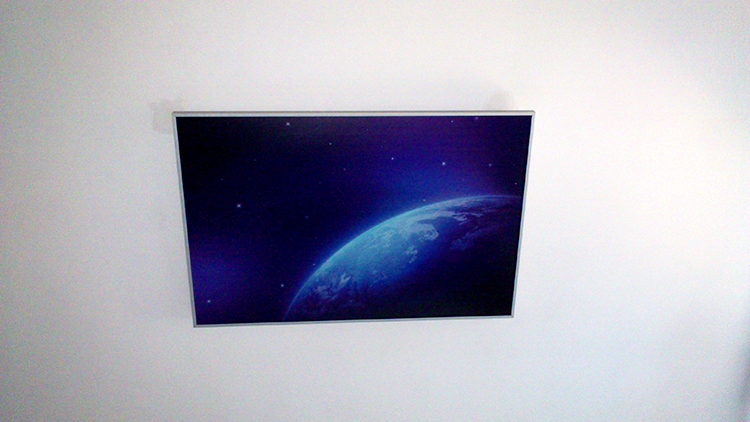 Инфрачервен панел с картина на таван в спалня
