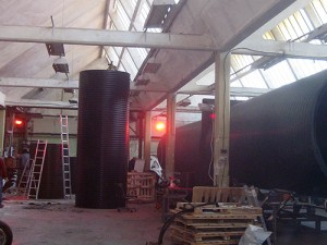 Инфрачервени лъчисти печки в промишлеността-2