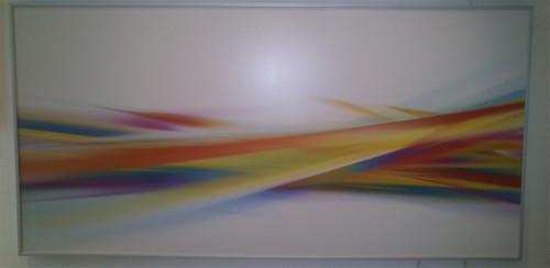 Инфрачервен радиатор за отопление с абстрактна картина