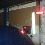 Лъчиста печка за отопление на авто сервиз