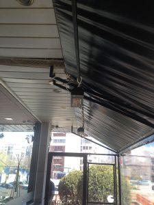 Инфрачервени печки за отопление BURDA SMART IP24 2kW монтирани в зона за пушене