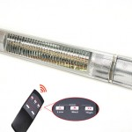 Infrared radiant heater with remote control and power control