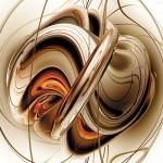 Картина за инфрачервен панел за отопление размер М 60х90 см Абстрактно преплитане (S)