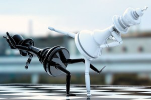Картина за инфрачервен панел за отопление размер М 60х90 см Карате шах (M)