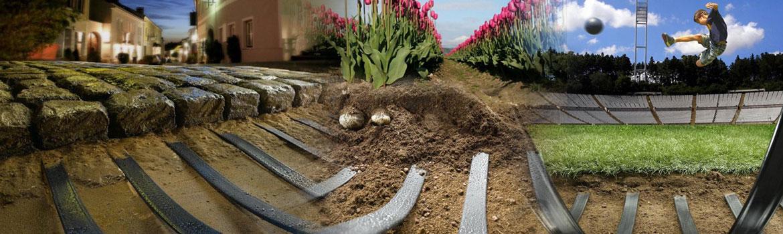 Приложение на лентите за топене на лед и сняг и загряване на почвата