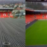Изграждане на подземна отоплителна система на стадиони