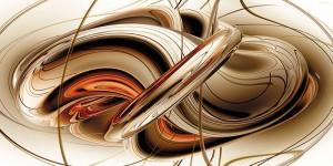 Картина за инфрачервен панел за отопление размер L 60х90 см Абстрактно преплитане (L)