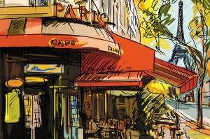 Картина за инфрачервен панел за отопление размер М 60х90 см Париж на картина (М)