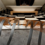 Mats for underfloor heating under floor tile, marble and tiles