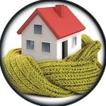 Анимирана икона за изолирана къща