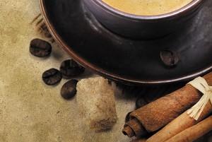 Картина за инфрачервен панел за отопление размер M 60х90 см Канелено кафе (М)