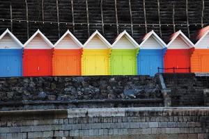 Картина за инфрачервен панел за отопление размер М 60х90 см Къщите в цветно (М)