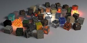Картина за инфрачервен панел за отопление размер L 60х120 см Лава кубове (L)