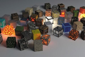 Картина за инфрачервен панел за отопление размер M 60х90 см Лава кубове (М)