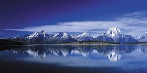 Картина за инфрачервен панел за отопление размер L 60х120 см Планината в огледалото (L)