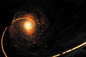 Картина за инфрачервен панел за отопление размер M 60х90 см Черна дупка (M)