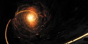 Картина за инфрачервен панел за отопление размер L 60х120 см Черна дупка (L)