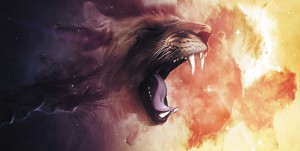 Картина за инфрачервен панел за отопление размер L 60х120 см Абстракт лъв (L)