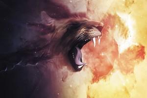 Картина за инфрачервен панел за отопление размер M 60х90 см Абстракт лъв (М)