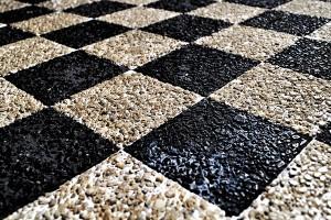 Картина за инфрачервен панел за отопление размер M 60х90 см Камъни и шахмат (M)