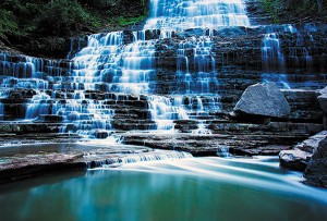 Картина за инфрачервен панел за отопление размер M 60х90 см 3D водопад (М)