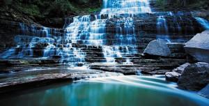 Картина за инфрачервен панел за отопление размер L 60х120 см 3D водопад (L)