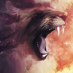 Картина за инфрачервен панел за отопление размер S 60х60 см Абстракт лъв (S)
