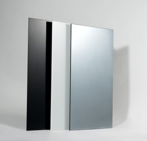 Glass infrared heating panels black and white glass and mirror