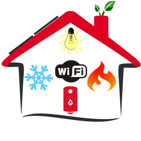 Control systems in homes and offices via the Internet