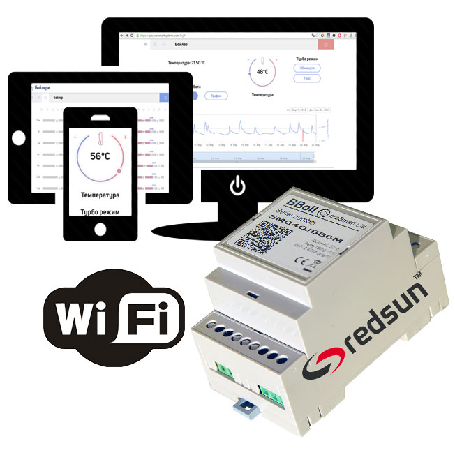 WiFi internet programmable smart thermostat BBoil
