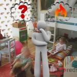 Man in kids room wondering what heating is most appropriate