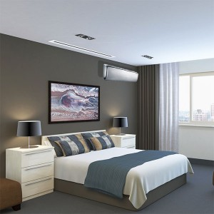 GREE air conditioner for heating and cooling installed in the bedroom