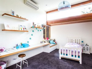 Daikin air conditioner for heating and cooling installed in the kids room