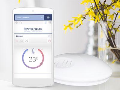 Смарт телефон и безжичен сензор за WiFi интернет програмируем термостат BBoil RF