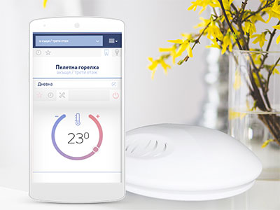 Smart phone and wireless sensor WiFi Internet BBoil RF programmable thermostat