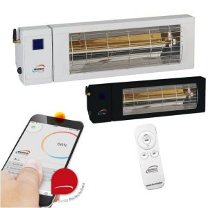 Infrared radiant heater for heating with remote control and Bluetooth mobile application