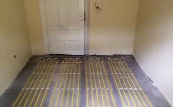 Инсталирани рогозки за инфрачервено подово отоплениев детска стая на апартамент