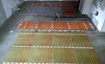 Монтирано подово отоплениена ток в хол на приземен апартамент