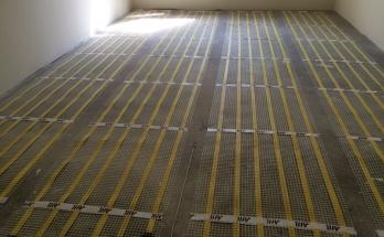 Положено инфрачервено подово отопление в стая за гости в апартамент