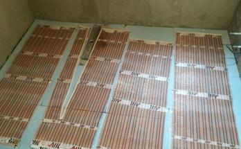 Нагревателни рогозки за инфрачервено подово отопление в баня