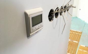 Стаен термостат AHT SK 51 монтиран в антре