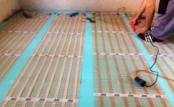 Допълнително фиксиране на рогозките за подово отопление