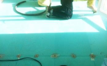Пробиване дюбелиране и почистване на подова изолация