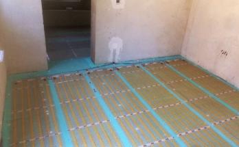 Приключен монтаж на електрическо подово отопление